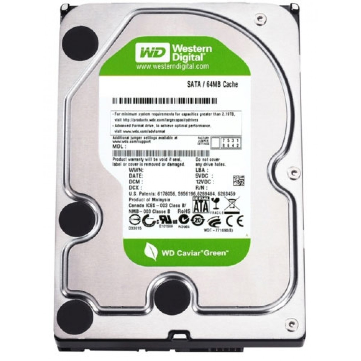 HD Western Digital AV-GP WD10EURX 1TB 7200RPM 64MB SATA III