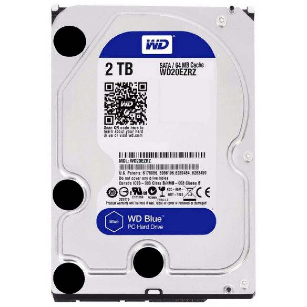 HD Western Digital Caviar Blue 2TB, Sata III, 5400RPM, 64MB, WD20EZRZ