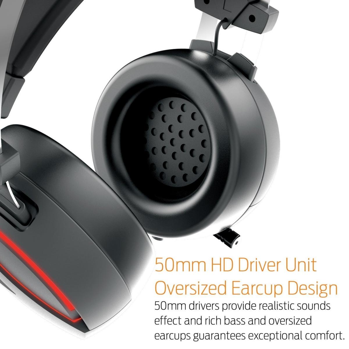 Headset Gamdias Hebe E1 Rgb Usb C/ Microfone Gd-hebe E1
