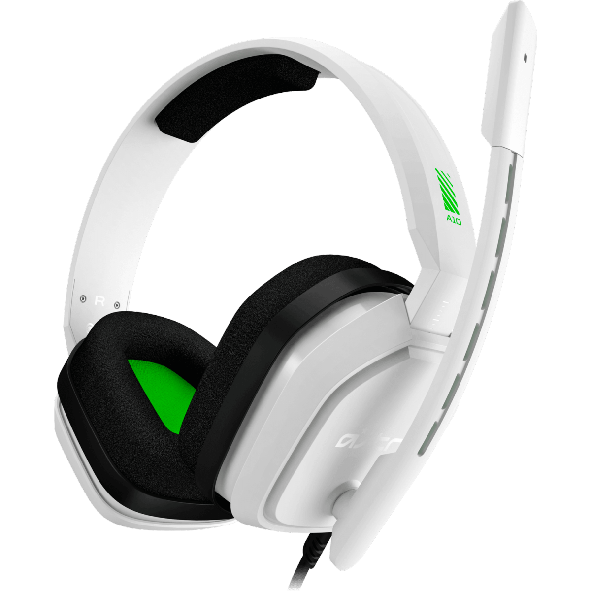 Headset Gamer Logitech Astro A10, White/Green, 939-001854