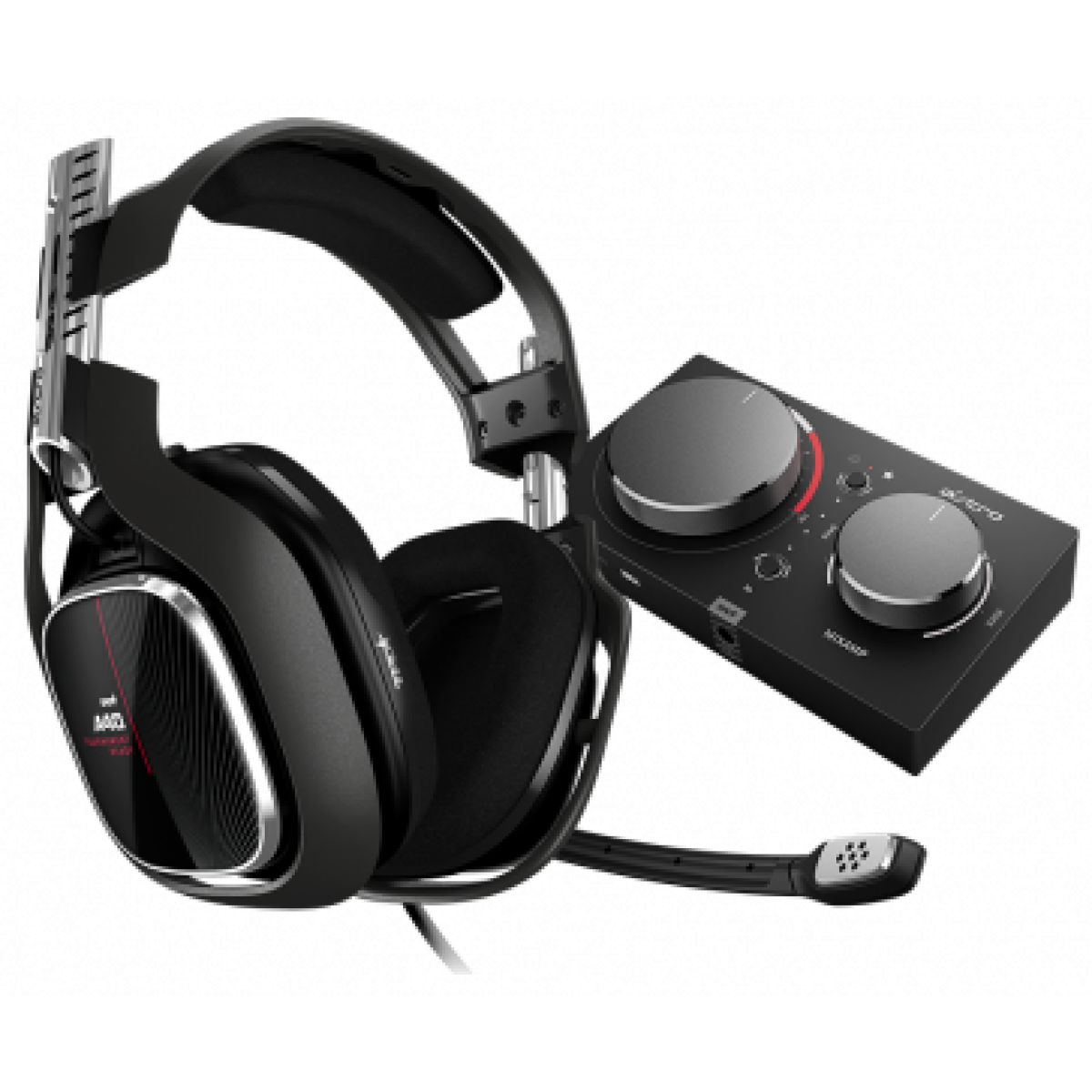 Headset Gamer Logitech Astro Gaming A40 TR + MixAmp Pro TR Gen 4 com Áudio Dolby, Xbox One, Pc, Black/Red, 939-001789