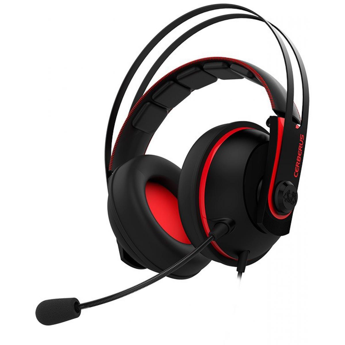 Headset Gamer Asus Cerberus V2 Vermelha 90YH015R-B1UA00