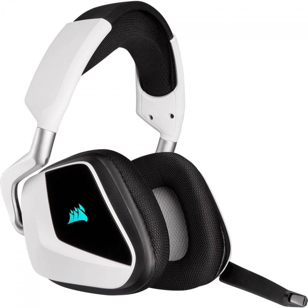 Headset Gamer Corsair 7.1 VOID RGB ELITE, Sem Fio, White, CA-9011202-NA