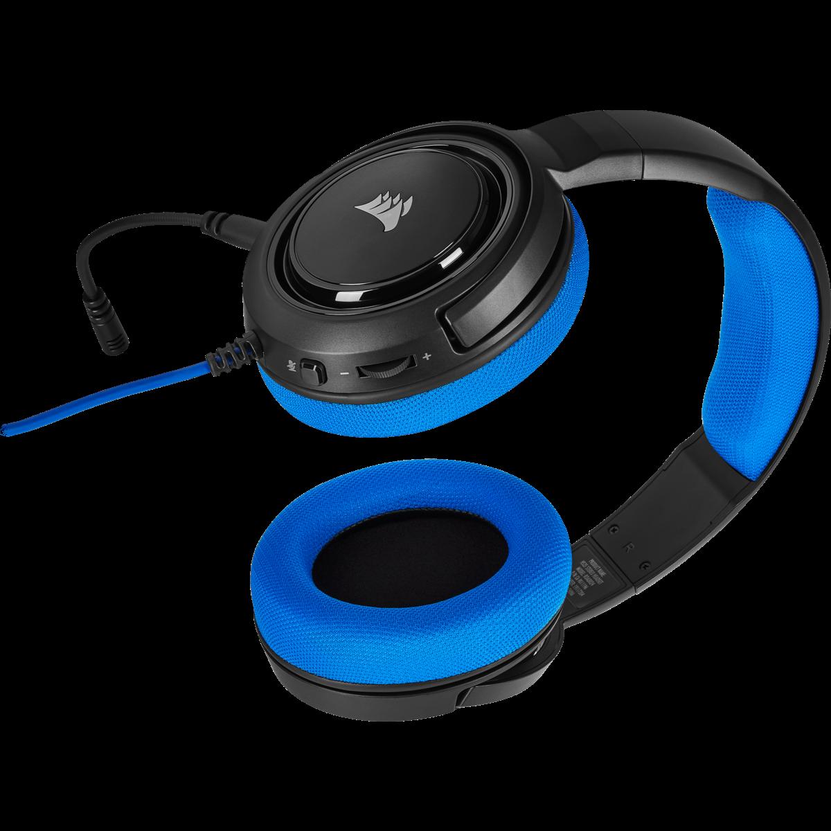 Headset Gamer Corsair HS35 Stereo Blue, CA-9011196-NA