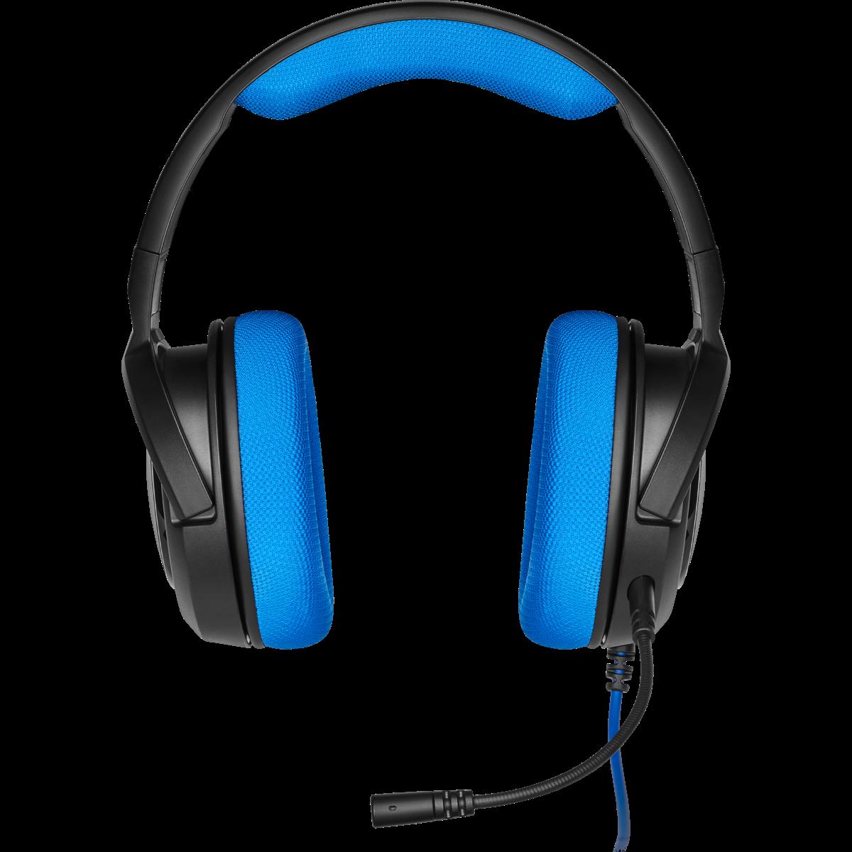 Headset Gamer Corsair HS35 Stereo Blue, CA-9011196-N