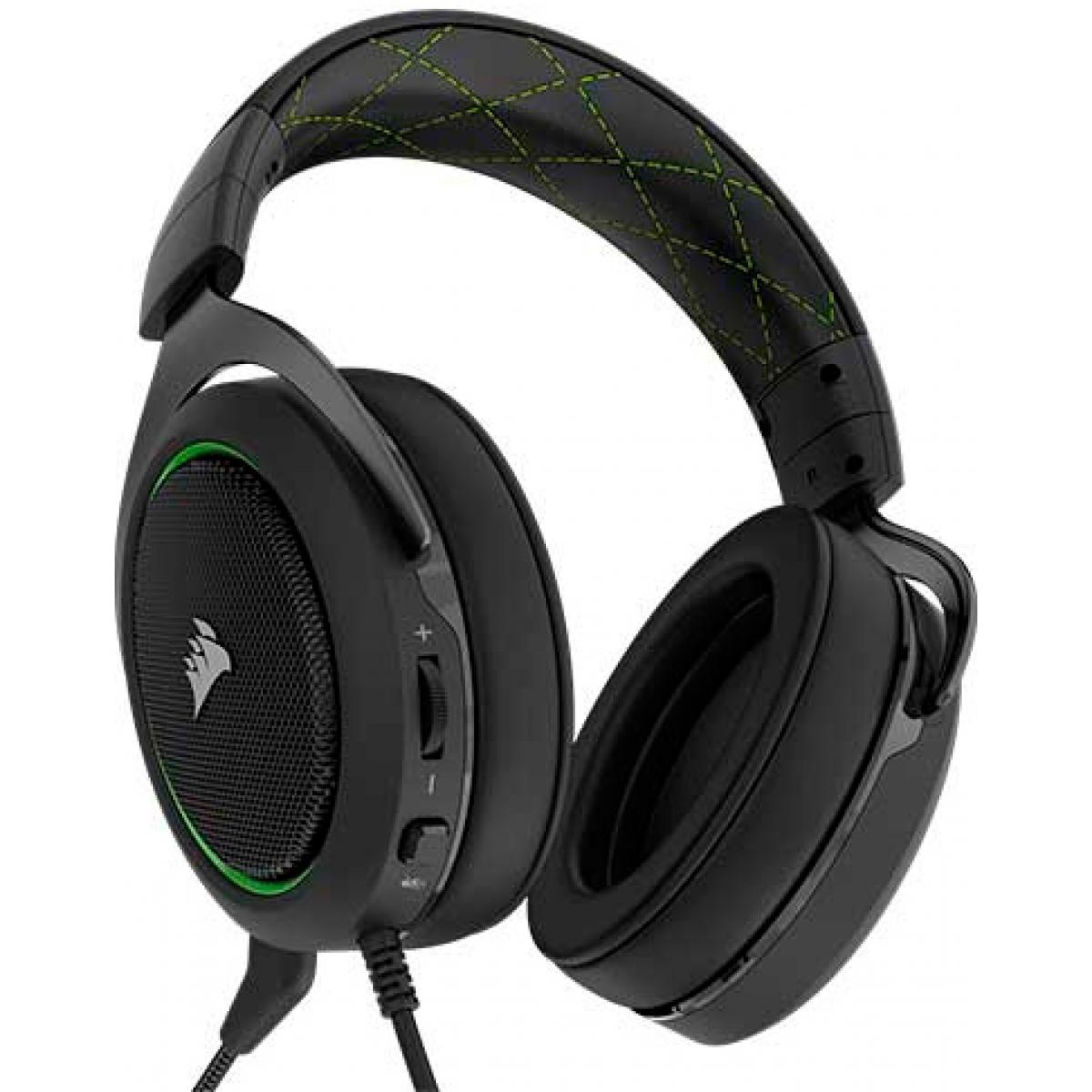 Headset Gamer Corsair HS50 Stereo Green CA-9011171-NA