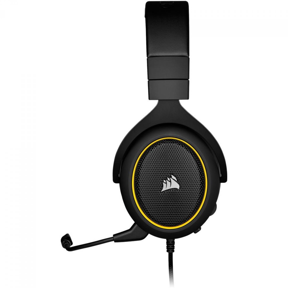 Headset Gamer Corsair HS60 PRO SURROUND, Com Fio, P2, Black/Yellow, CA-9011214-NA