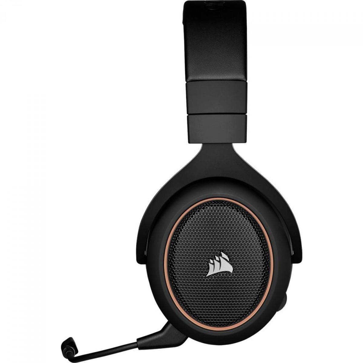 Headset Gamer Corsair HS70 PRO Wireless, 7.1 Surround, USB, PC, PS4/5, Black/Cream, CA-9011210-NA