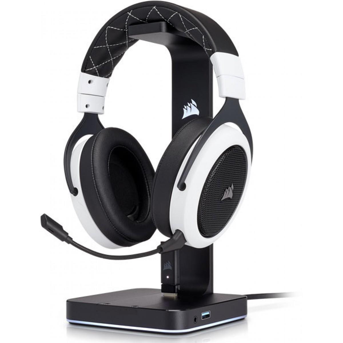 Headset Gamer Corsair HS70 Wireless 7.1 USB CA-9011177-NA Preto/Branco - Open Box