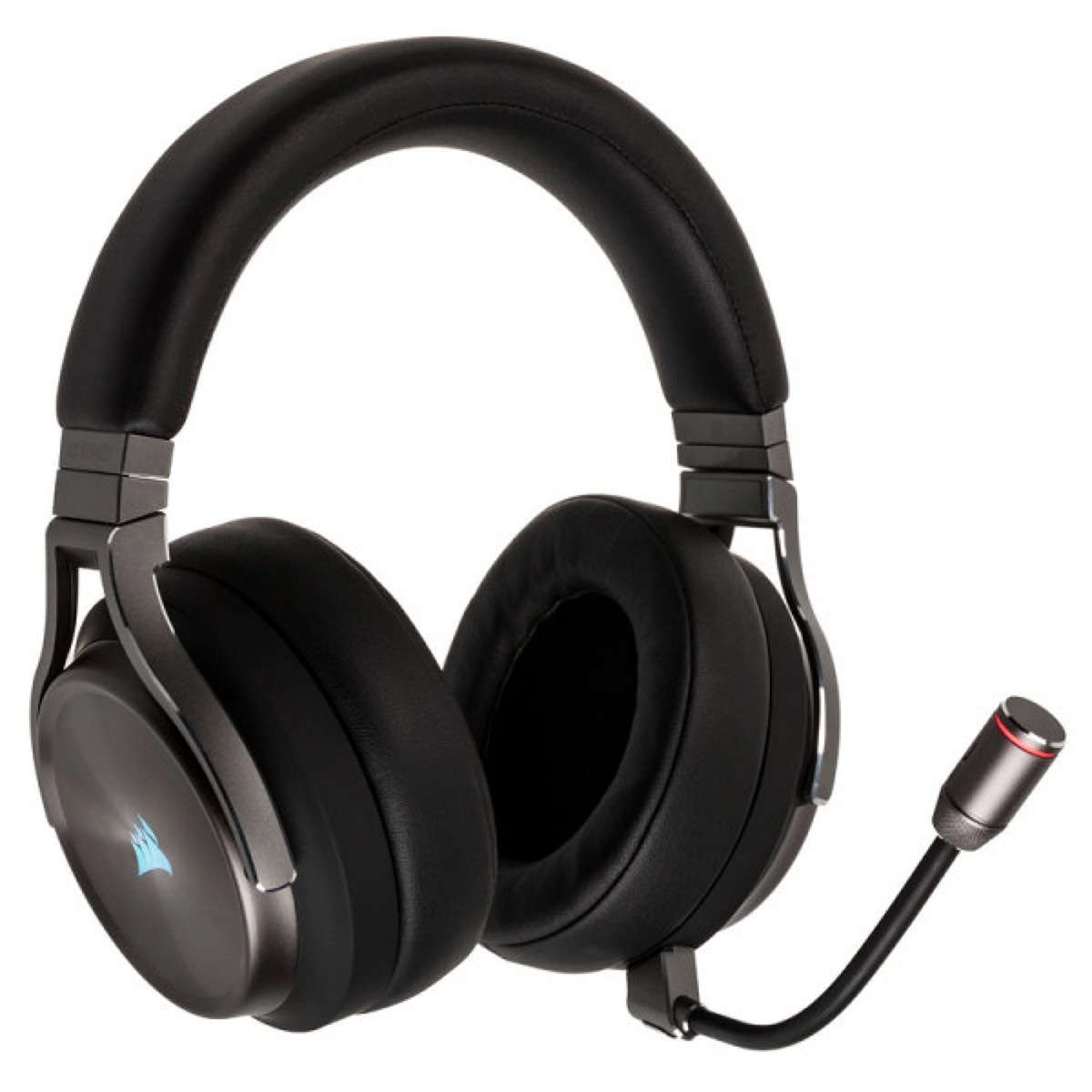 Headset Gamer Corsair Virtuoso, USB + Wireless + 3.5mm, PC, PlayStation 4/5, Dispositivos Móveis, RGB, Metallic, CA-9011180-NA