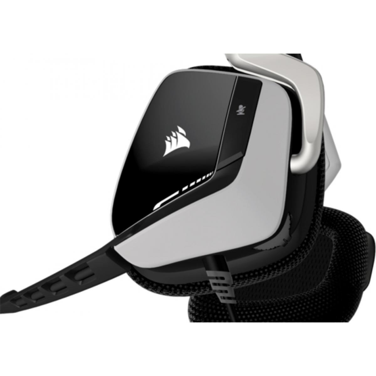 Headset Gamer Corsair VOID DOLBY 7.1 USB RGB CA-9011139-EU Branco