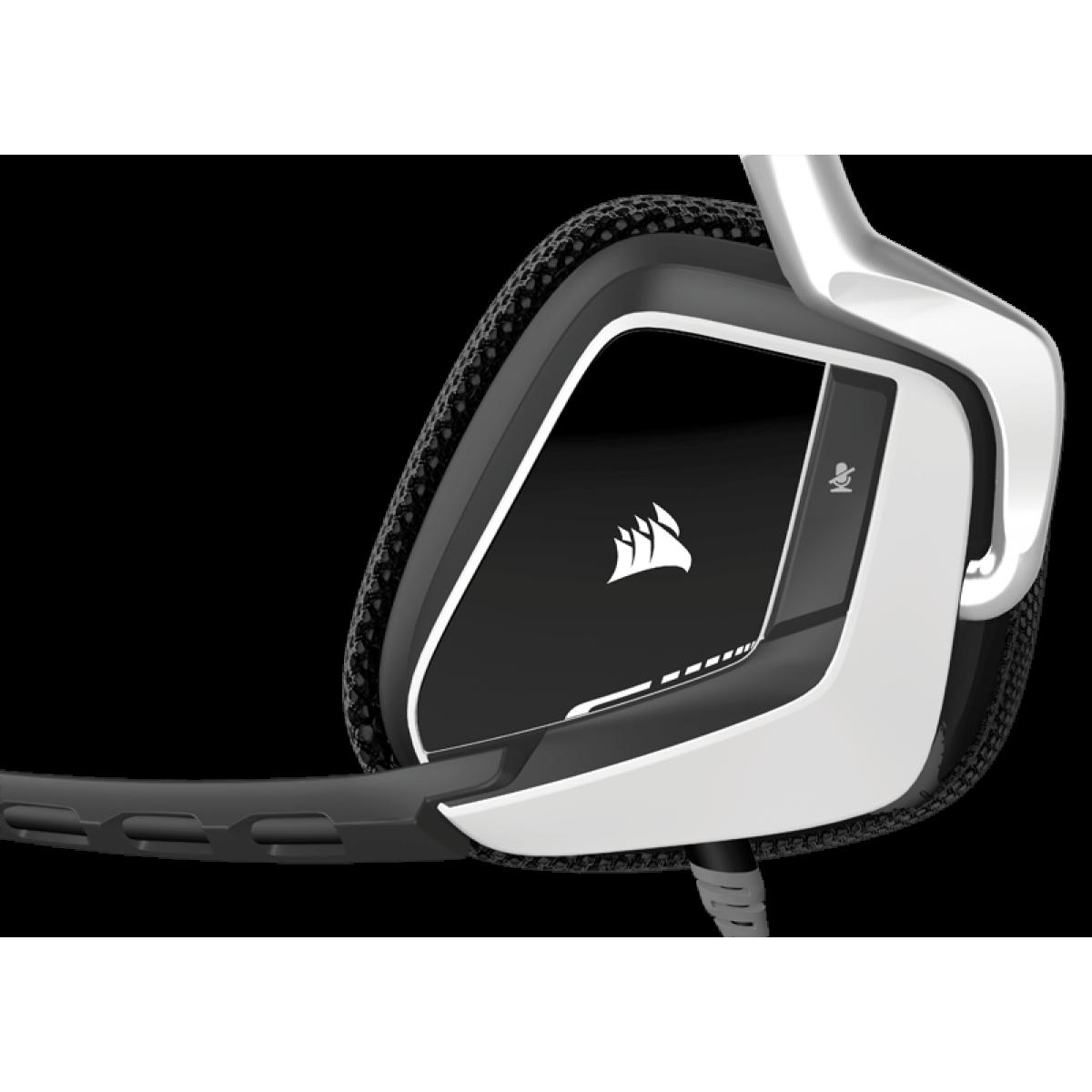 Headset Gamer Corsair Void RGB Dolby 7.1 White CA-9011139-NA
