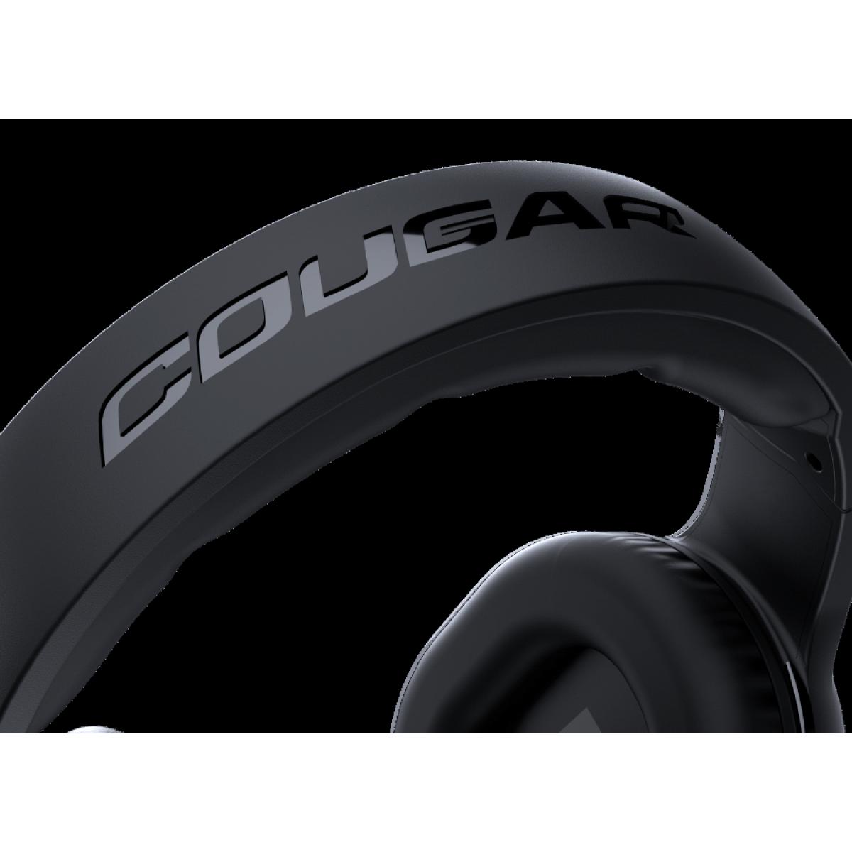Headset Gamer Cougar HX330, 3.5mm, Black, 3H250P50B.0001