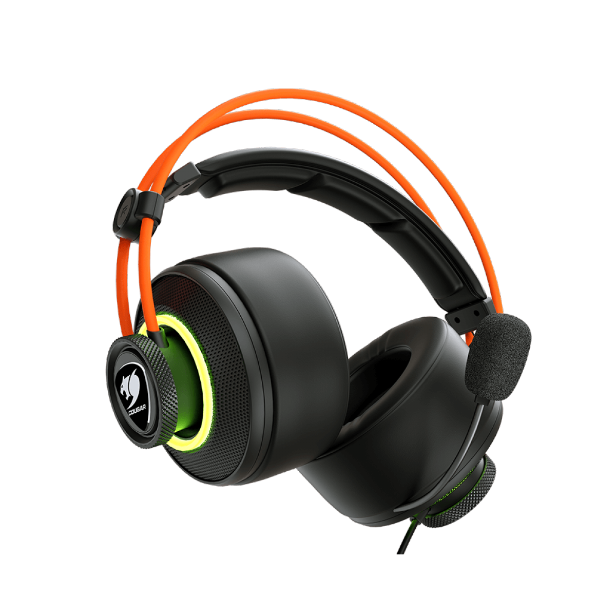 Headset Gamer Cougar Immersa Pro Prix, Surround 7.1, Black/Orange, 3H700U50C-0004