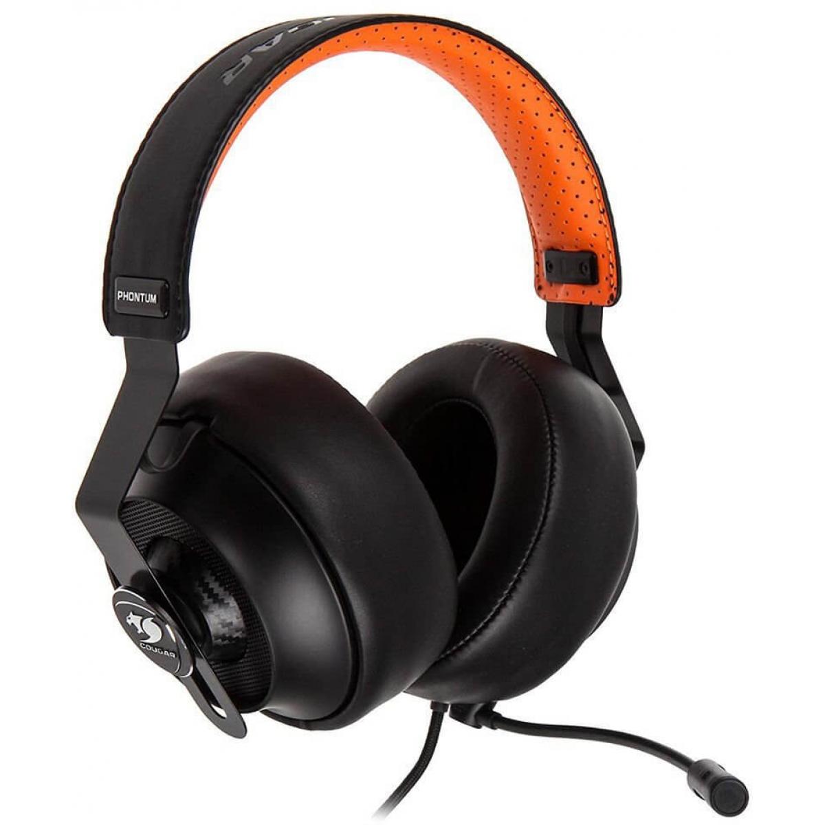 Headset Gamer Cougar Phontum 3H500P53B.0005 Preto/Laranja