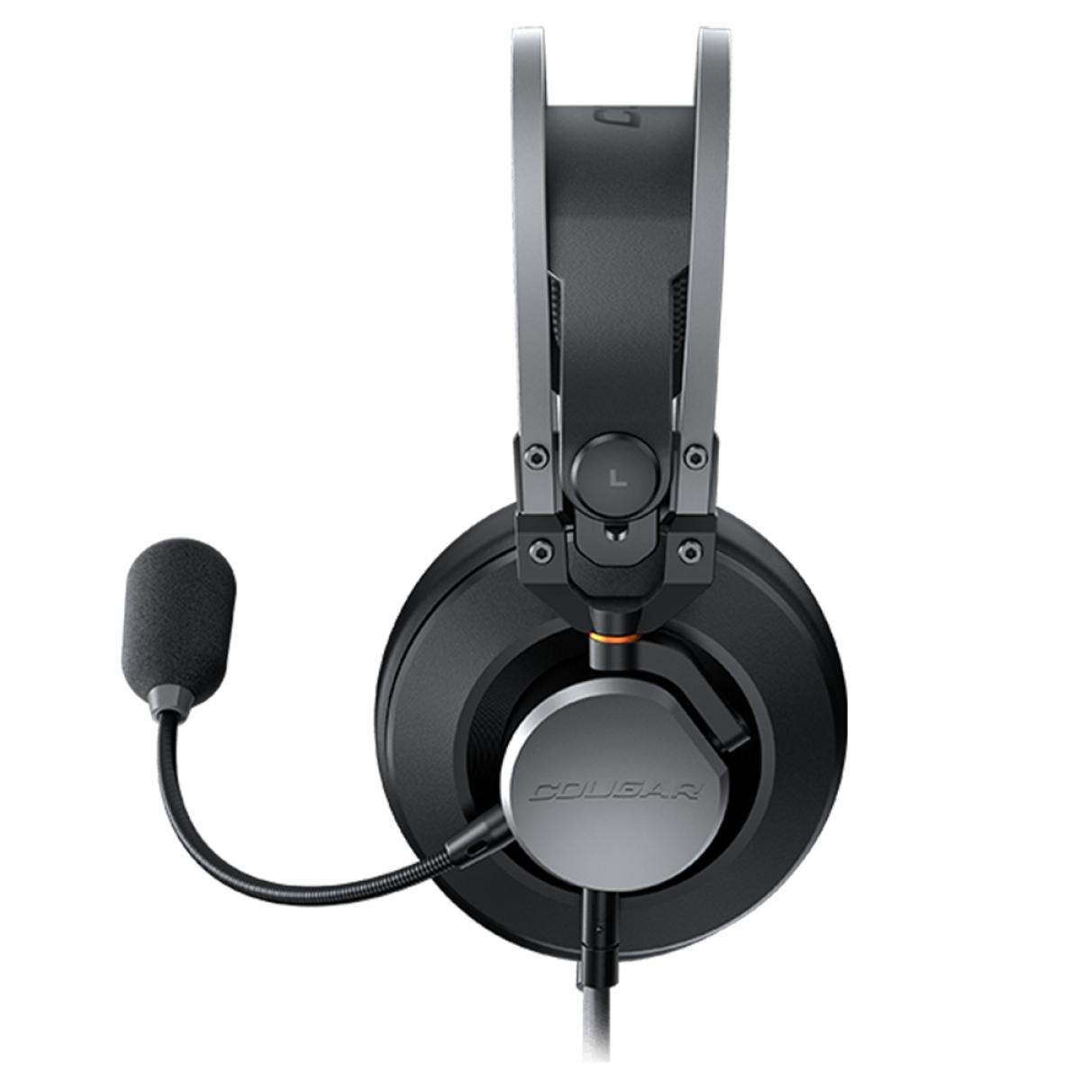 Headset Gamer Cougar VM410 Iron, 3.5mm, Multi Plataforma, Black/Gray, 3H550P53N.0001