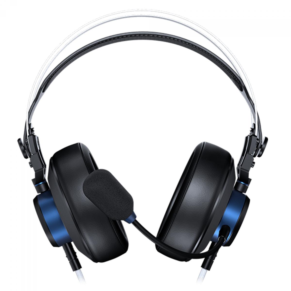 Headset Gamer Cougar VM410 PS, 3.5mm, Multi Plataforma, Black/Blue, 3H550P53S.0001