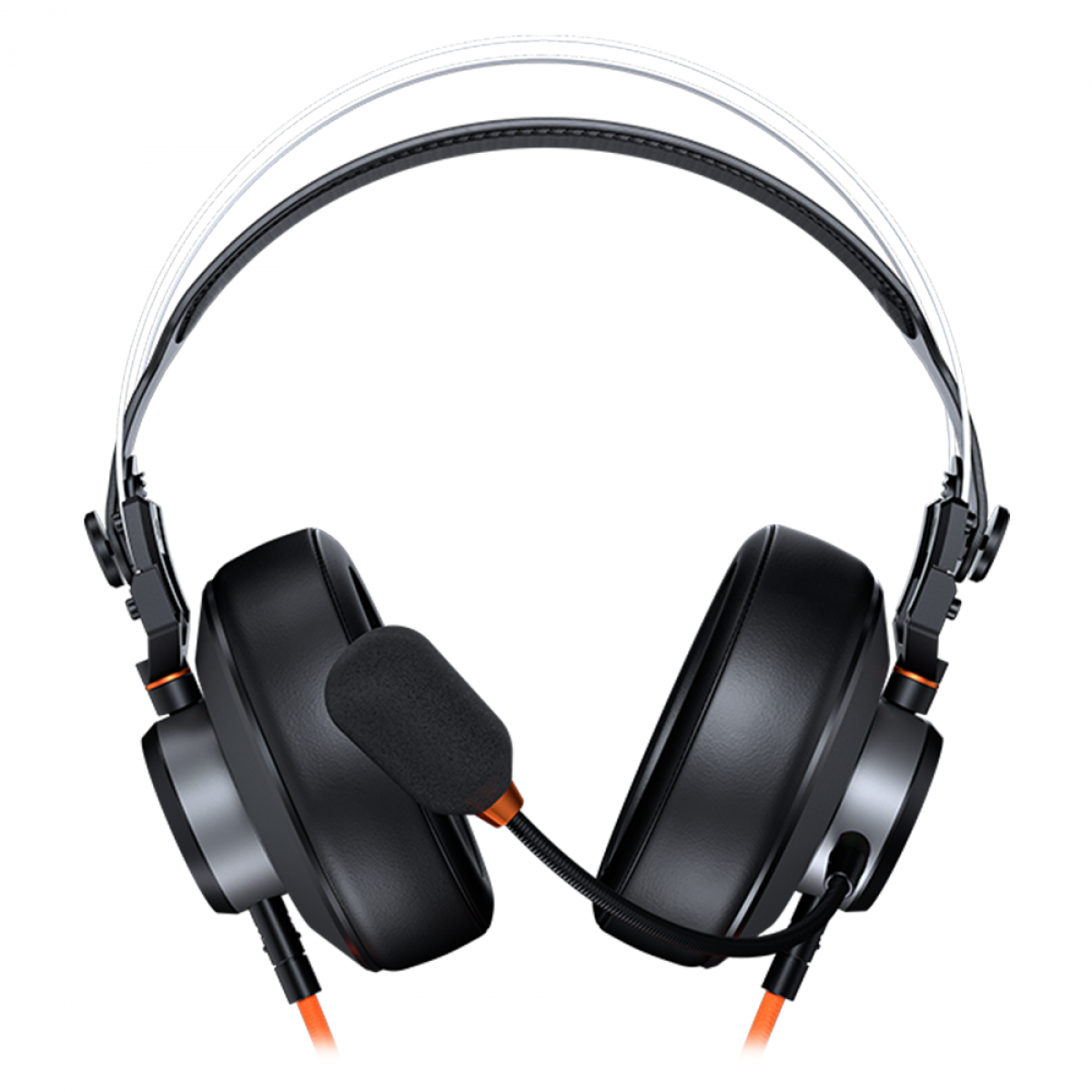 Headset Gamer Cougar VM410 Tournament, 3.5mm, Multi Plataforma, Black/Orange, 3H550P53O.0002