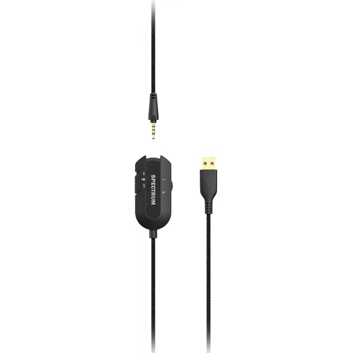 Headset Gamer Dazz Spectrum 7.1, Black, 6014644