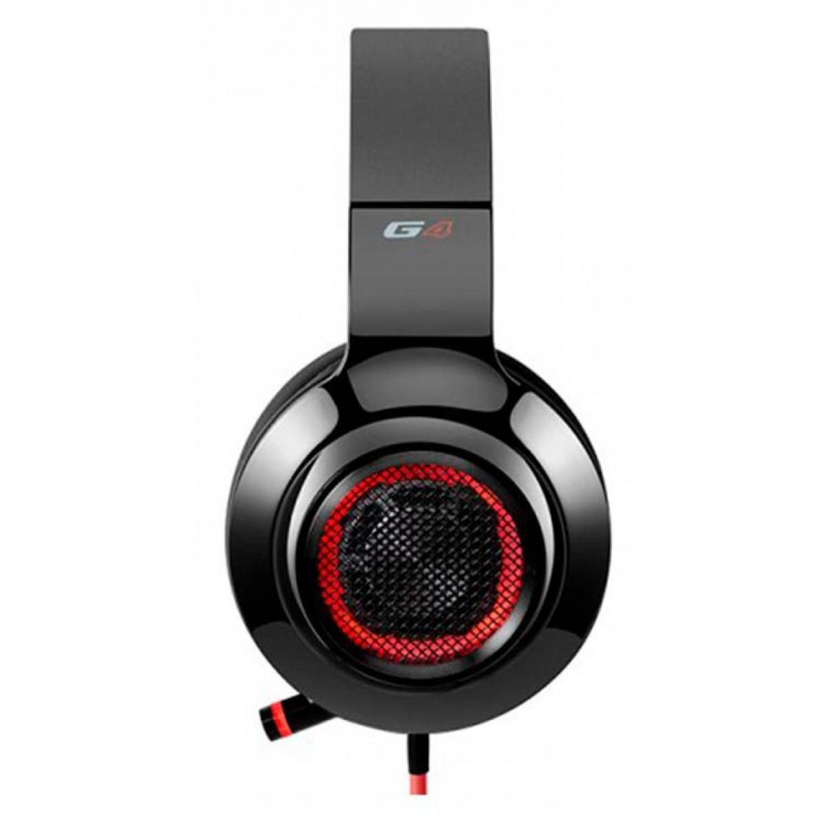 Headset Gamer Edifier G4, 7.1 USB, Black-Red
