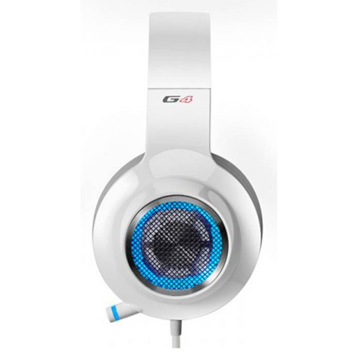 Headset Gamer Edifier G4, 7.1 USB, White-Blue