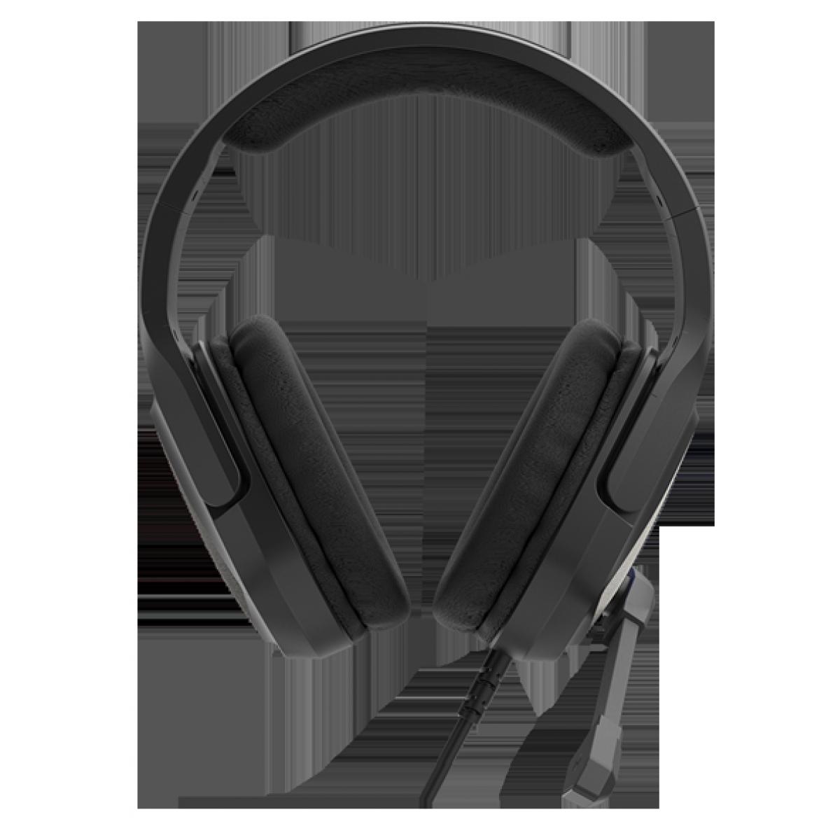 Headset Gamer Fantech Jade, 3.5mm + USB, RGB, Black, MH84