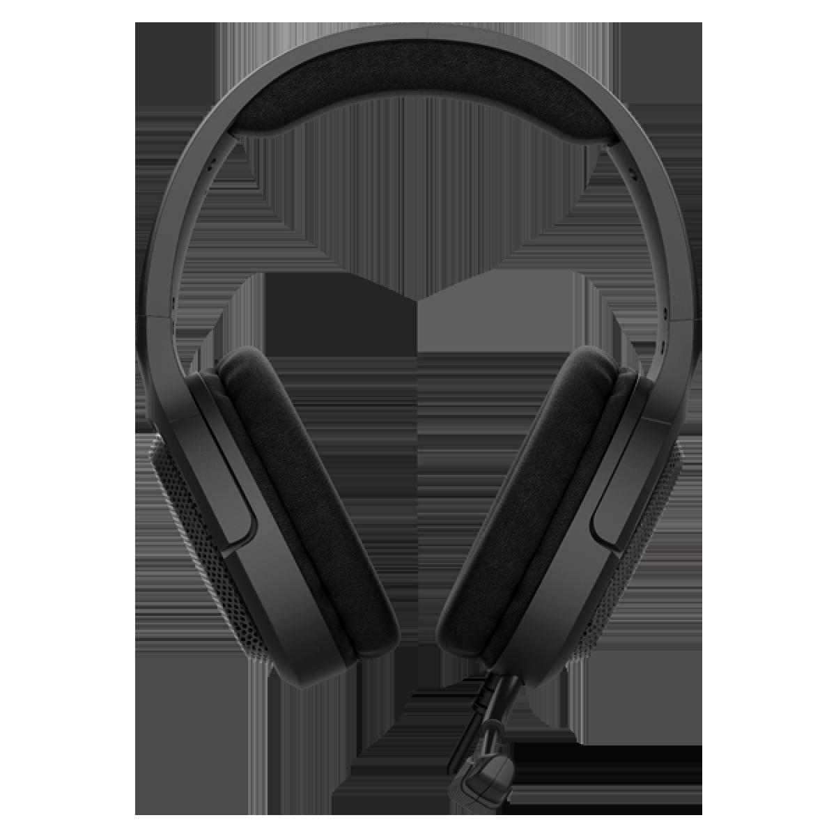 Headset Gamer Fantech Vibe, 3.5mm + USB, Black, LED Red, MH85