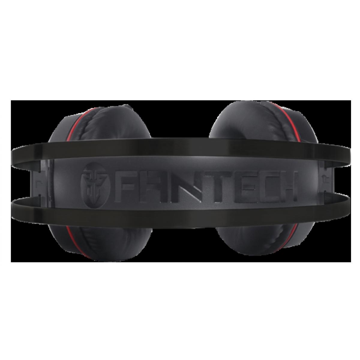 Headset Gamer Fantech Visage II, 2x3.5mm + USB, RGB, Black/RED, HG17s