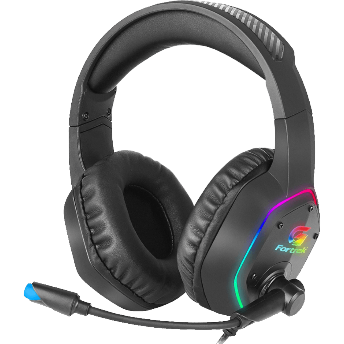 Headset Gamer Fortrek Blackfire, RGB, USB, Preto, 70554
