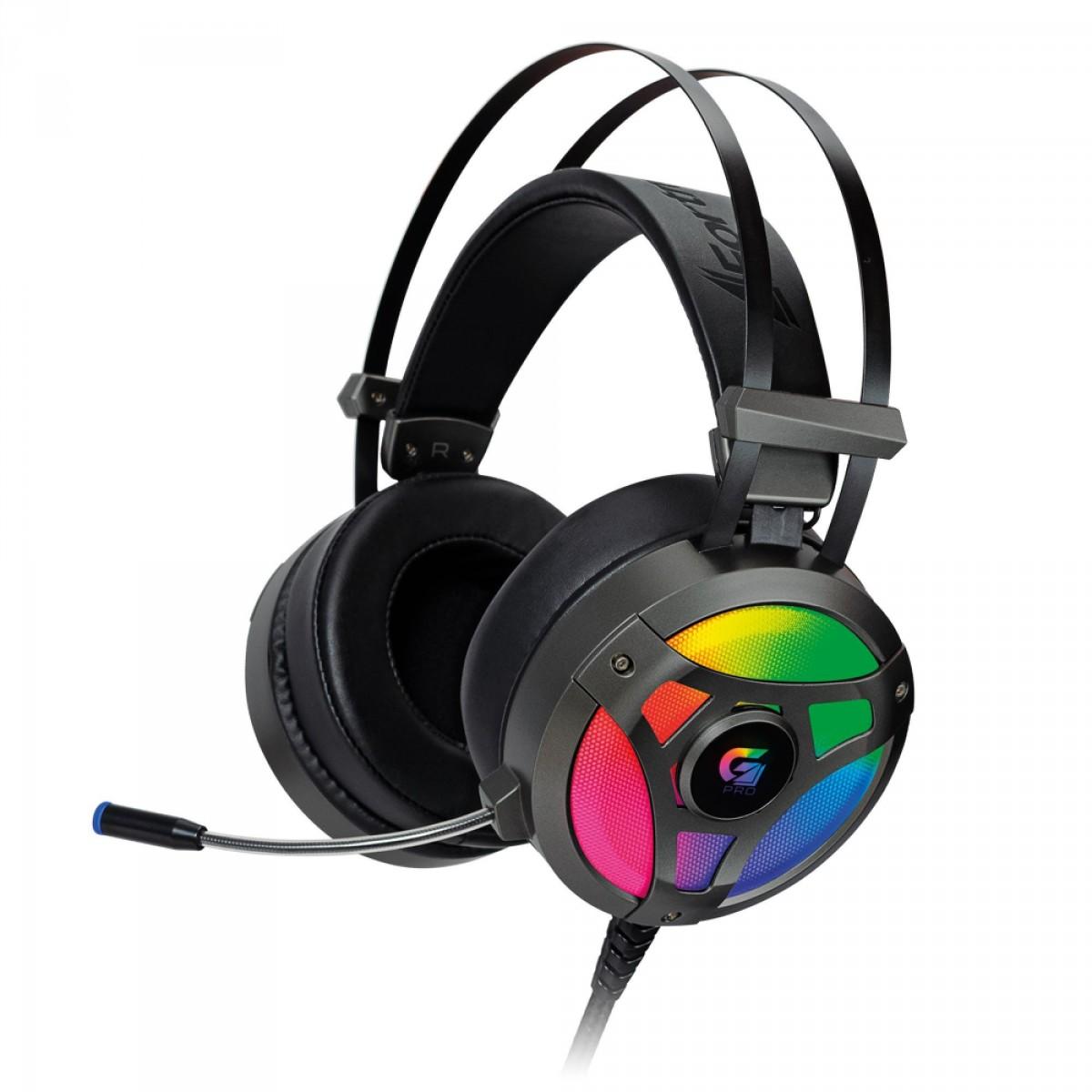 Headset Gamer Fortrek G Pro H1+ 7.1, RGB,  Cinza, G-Pro, 65905