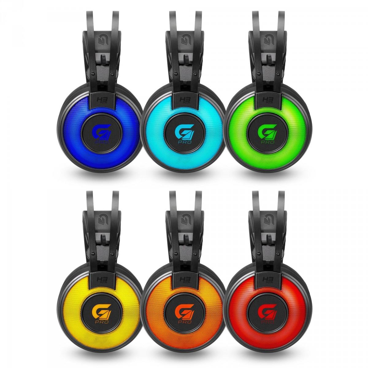 Headset Gamer Fortrek G Pro H3+ 7.1, RGB,  Cinza, 65907