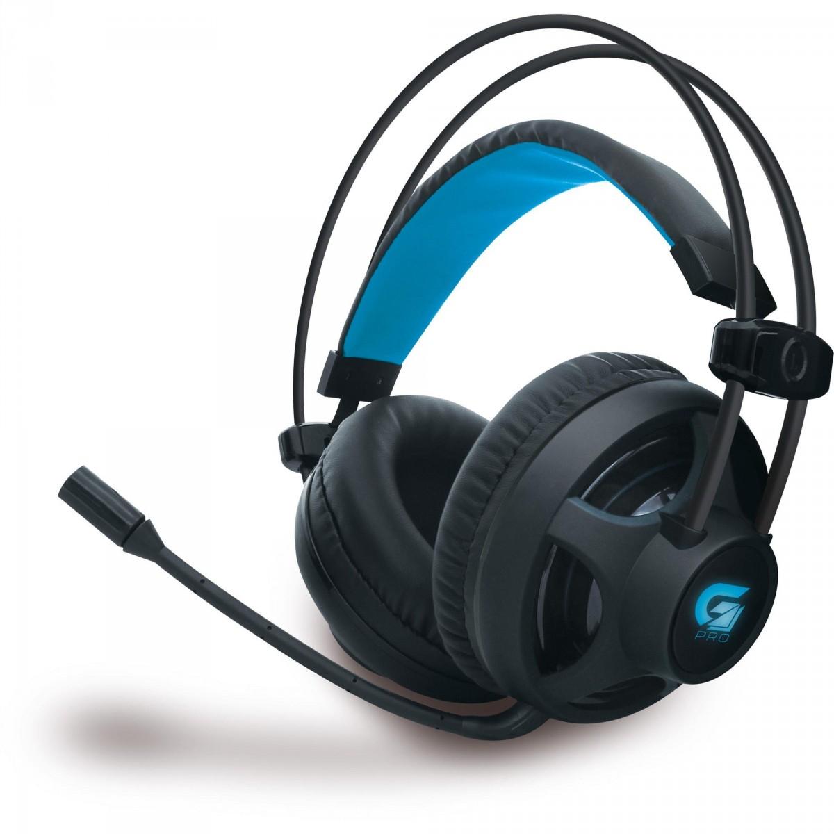 Headset Gamer Fortrek Pro H2 Led Azul Preto, 64390