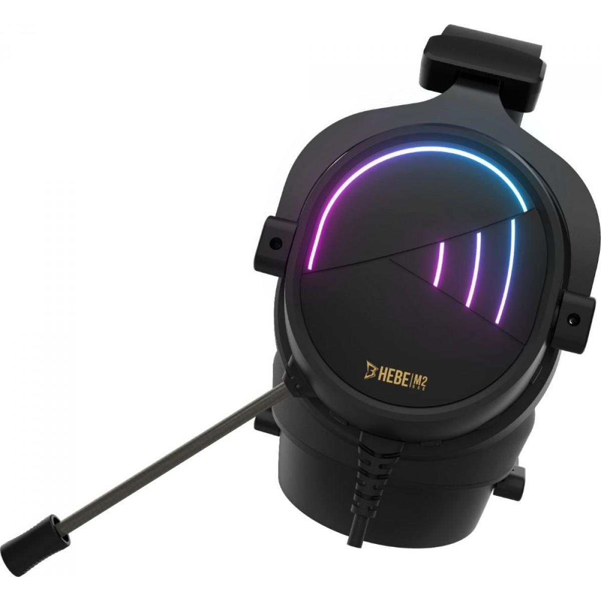 Headset Gamer Gamdias Hebe M2, Surround 7.1, RGB, Vibração, Black