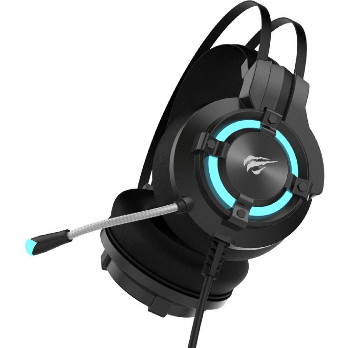 Headset Gamer Havit HV-H2212U 7.1 USB Preto/Vermelho