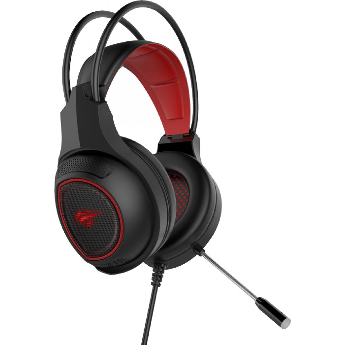 Headset Gamer Havit HV-H2239D Preto/Vermelho