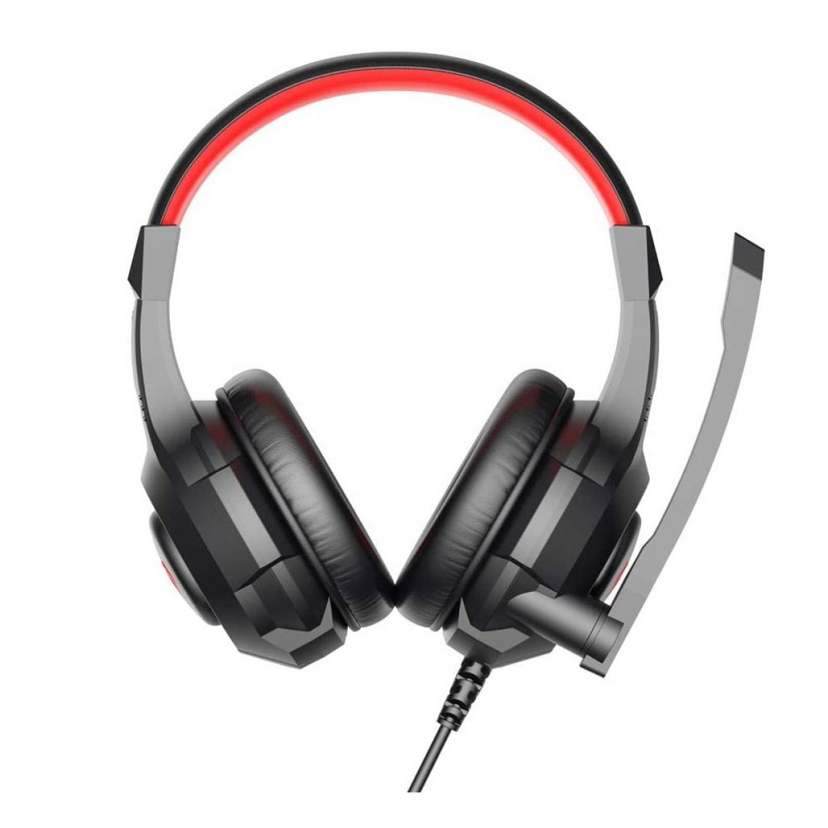 Headset Gamer Havit, USB + P2, Black/Red, H2031D