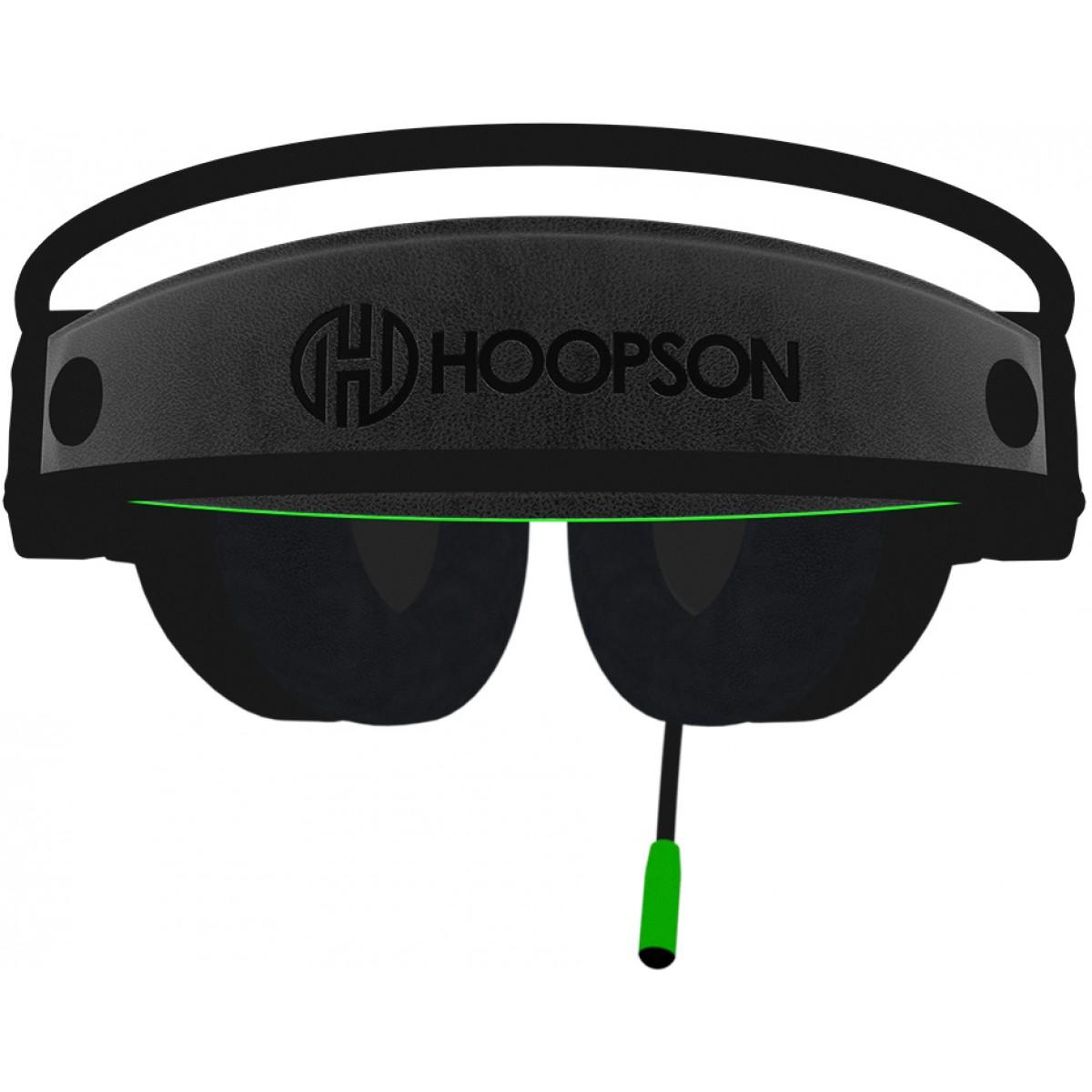 Headset Gamer Hoopson Bruiser, LED, USB, Verde, DG28G