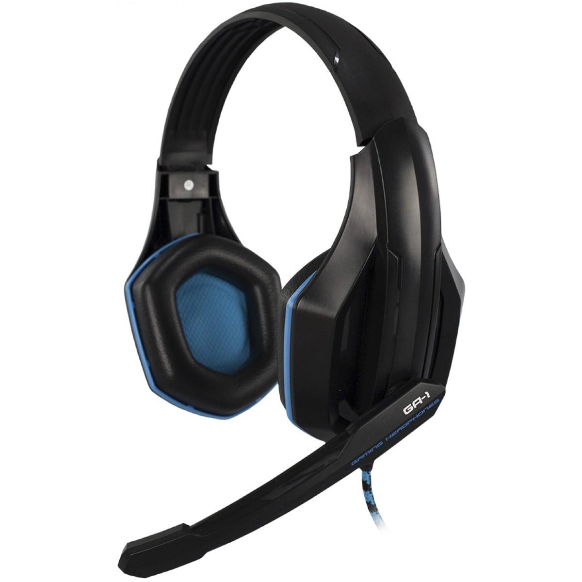 Headset Gamer Hoopson Pro Stereo, Preto e Azul, GA-1
