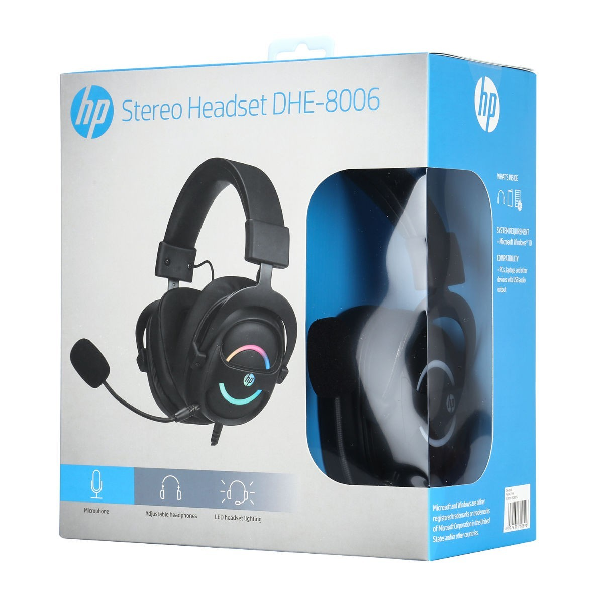 Headset Gamer HP DHE-8006, 7.1 Surround, USB, Black, DHE-8006