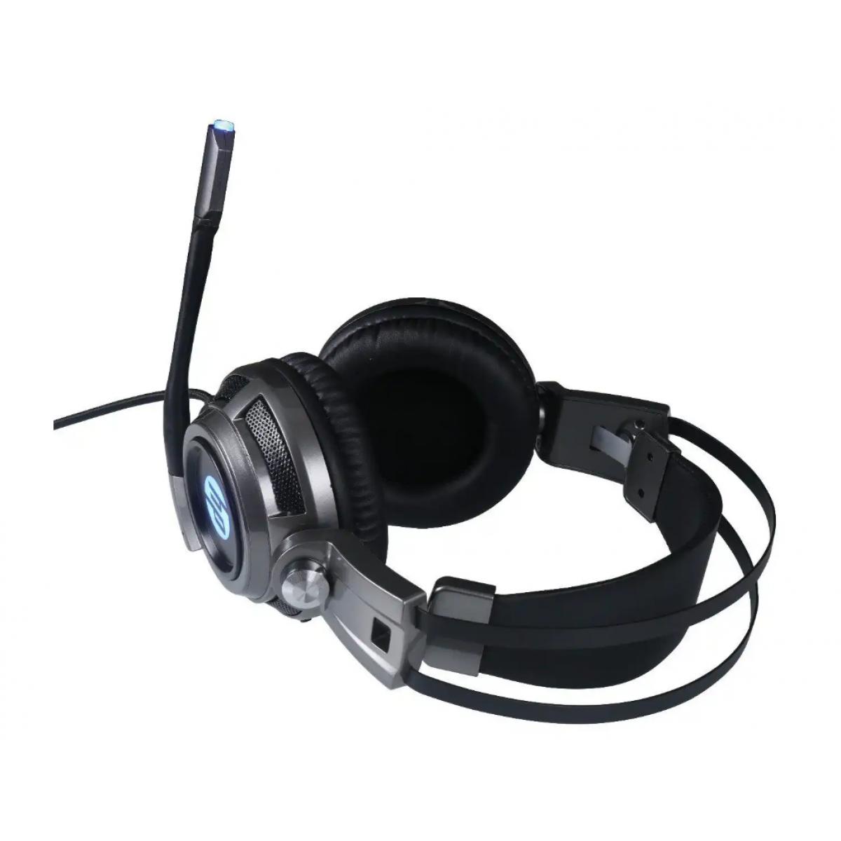 Headset Gamer HP  H200, Com Fio, USB + P2, Gray, 8AA04AA