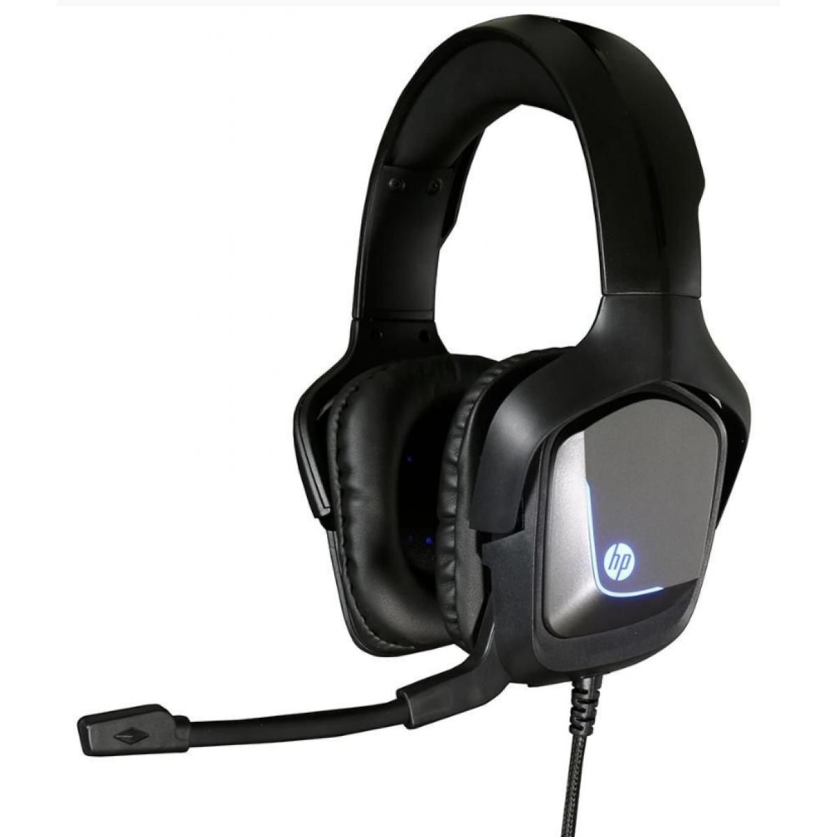 Headset Gamer HP  H220, Com Fio, USB + P2, Black