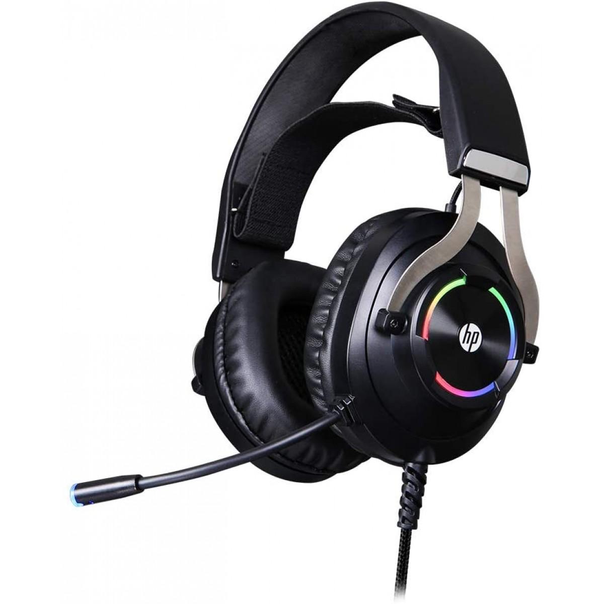 Headset Gamer HP  H360GS, Surround 7.1, Com Fio, USB, Black, H360GS