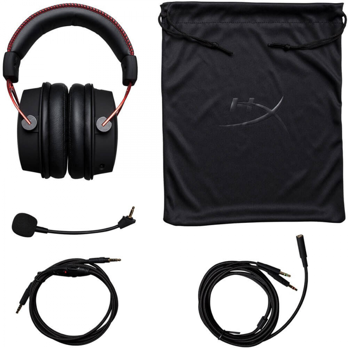Headset Gamer HyperX Cloud Alpha HX-HSCA-RD/AM Preto/Vermelho