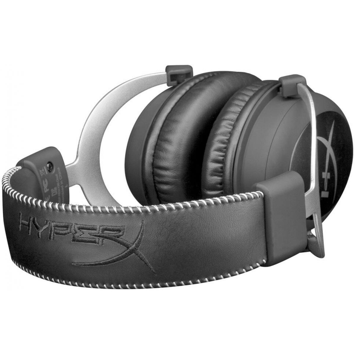 Headset Gamer HyperX Cloud Silver HX-HSCL-SR/NA Preto