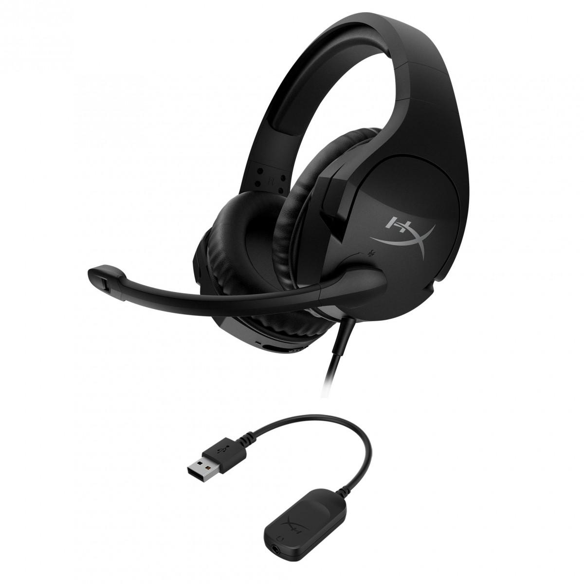 Headset Gamer HyperX Cloud Stinger S, 7.1 Surround, 3.5mm ou USB, 50mm, Black, HSS1S-AA-BK/G