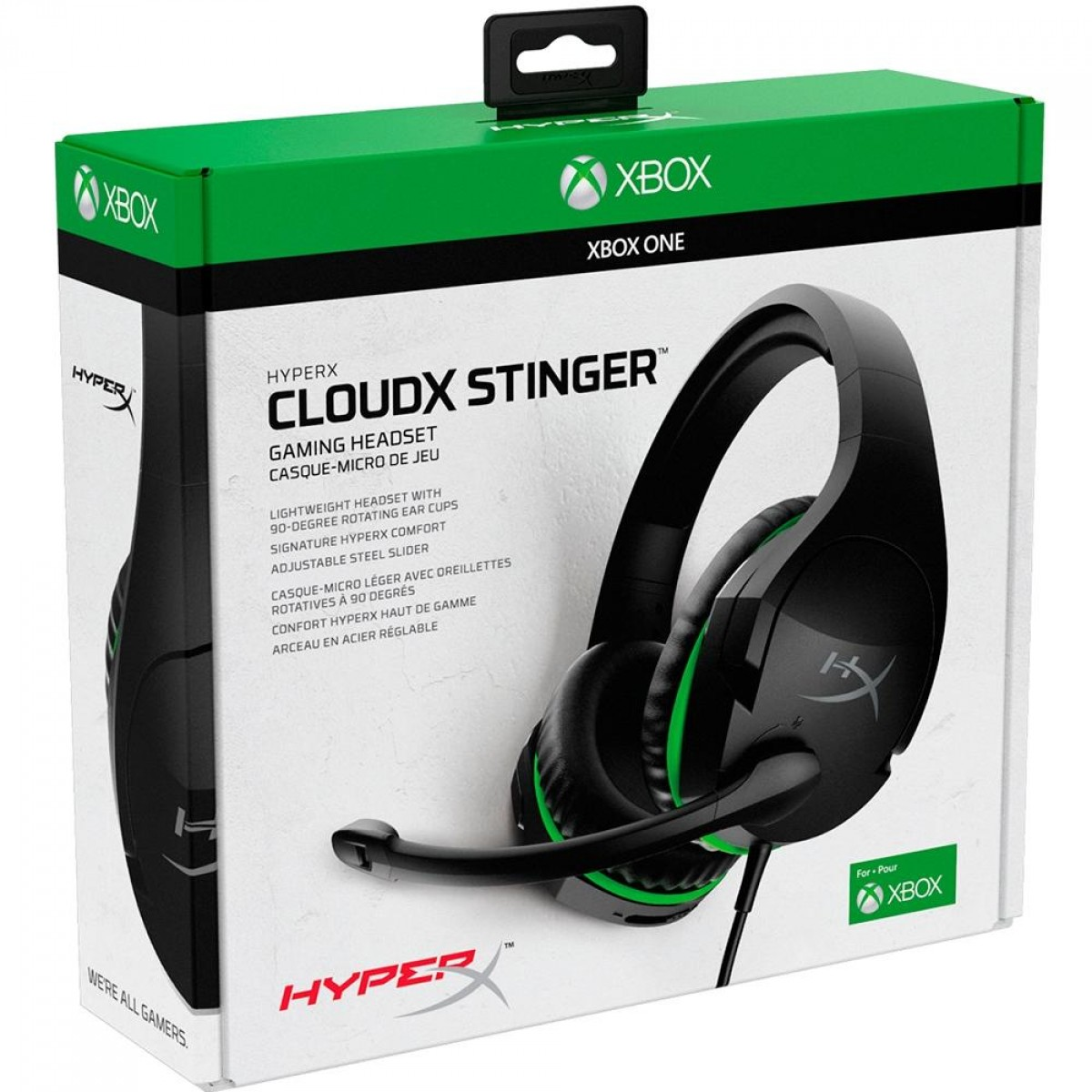 Headset Gamer HyperX CloudX Stinger Xbox, 3.5mm, Black/Green, HX-HSCSX-BK/WW