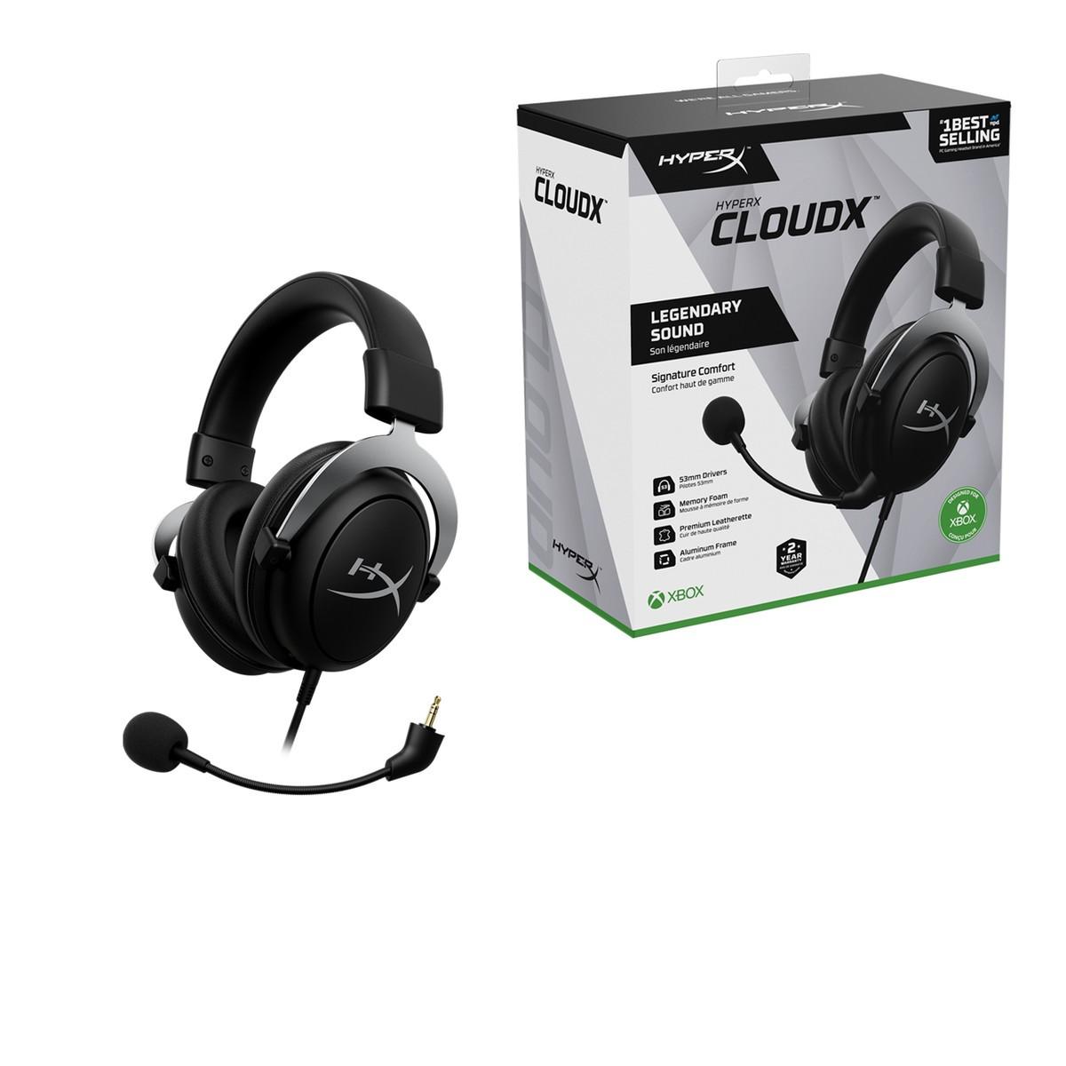 Headset Gamer HyperX CloudX, Xbox, 3.5mm, Black, HHSC2-CG-SL/G