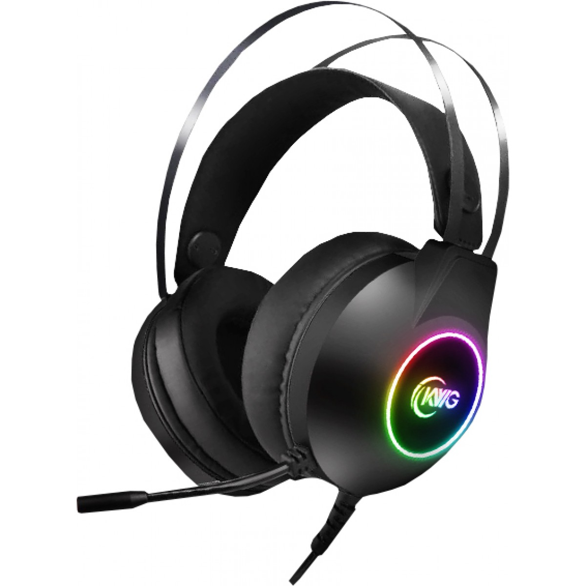Headset Gamer KWG Taurus M1 RGB, USB, Black