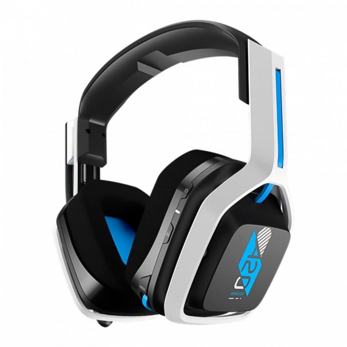 Headset Gamer Logitech Astro A20 Gen 2, USB, PS5/4, PC/MAC, White/Blue, 939-001877