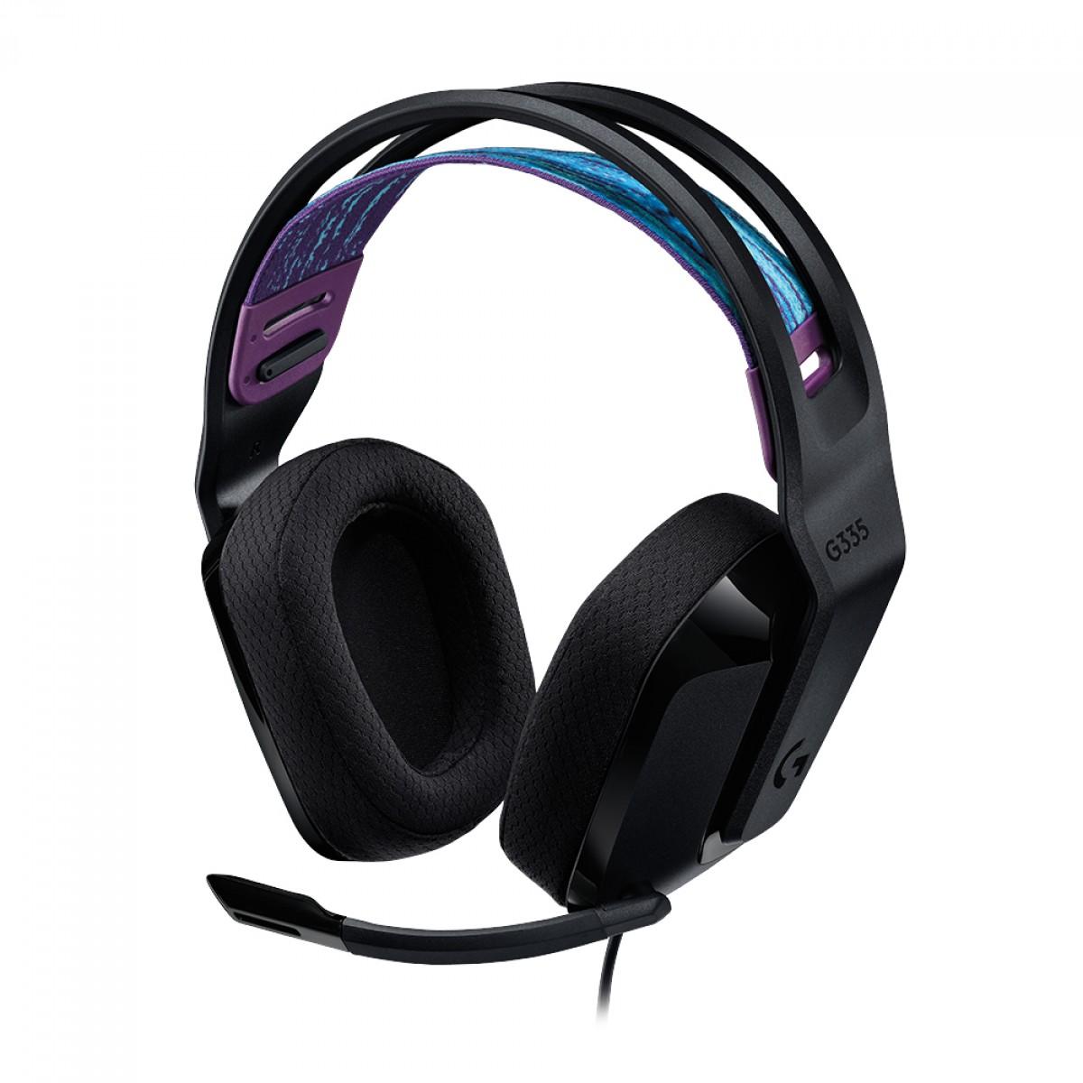 Headset Gamer Logitech G335, Black, 981-000977